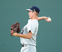 Starting pitcher Scottie Allen (32) of the Charleston RiverDogs, a New York Yankees affiliate, prior to a game against the Greenville Drive on June 2, 2012, at Fluor Field at the West End in Greenville, South Carolina. Greenville won, 10-4. (Tom Priddy/Four Seam Images).