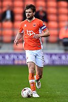 Blackpool's Andy Taylor in action<br /> <br /> Photographer Richard Martin-Roberts/CameraSport<br /> <br /> The EFL Sky Bet League Two Play-Off Semi Final First Leg - Blackpool v Luton Town - Sunday May 14th 2017 - Bloomfield Road - Blackpool<br /> <br /> World Copyright &copy; 2017 CameraSport. All rights reserved. 43 Linden Ave. Countesthorpe. Leicester. England. LE8 5PG - Tel: +44 (0) 116 277 4147 - admin@camerasport.com - www.camerasport.com