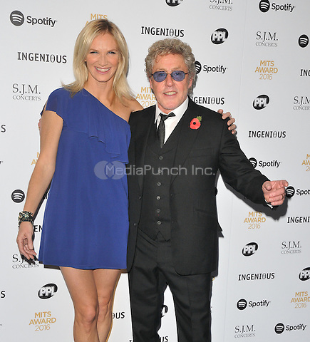 Jo Whiley and Roger Daltrey at the Music Industry Trusts Awards 2016, Grosvenor House Hotel, Park Lane, London, England, UK, on Monday 07 November 2016. <br /> CAP/CAN<br /> &copy;CAN/Capital Pictures /MediaPunch ***NORTH AND SOUTH AMERICAS ONLY***