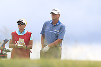Steve Stricker (USA) and caddy on the 7th tee during Saturday's Round 3 of the 117th U.S. Open Championship 2017 held at Erin Hills, Erin, Wisconsin, USA. 17th June 2017.<br /> Picture: Eoin Clarke | Golffile<br /> <br /> <br /> All photos usage must carry mandatory copyright credit (&copy; Golffile | Eoin Clarke)