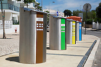 Roadside Recycling Bins in Alvor Portugal