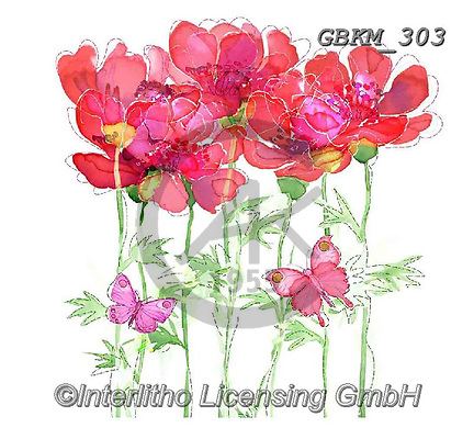 Kate, FLOWERS, BLUMEN, FLORES, paintings+++++Florals page 2,GBKM303,#f#, EVERYDAY