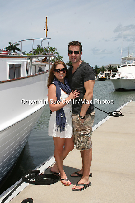John Driscoll and girlfriend Beth -  12th Annual SoapFest - Actors take a break on the Ramblin' Rose with Ken as the captain on May 14, 2010 on Marco Island, FLA. (Photo by Sue Coflin/Max Photos)