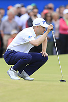 Russell Knox (SCO) on the playoff 18th green during Sunday's Final Round of the 2018 Dubai Duty Free Irish Open, held at Ballyliffin Golf Club, Ireland. 8th July 2018.<br /> Picture: Eoin Clarke | Golffile<br /> <br /> <br /> All photos usage must carry mandatory copyright credit (&copy; Golffile | Eoin Clarke)