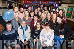 Katie O'Connor, seated front centre, celebrating her 21st in the Greyhound bar with her family and friends on Saturday night last. Seated l-r, Matt O'Connor, Ned Lonergan, Katie O'Connor and Karen Lonergan.