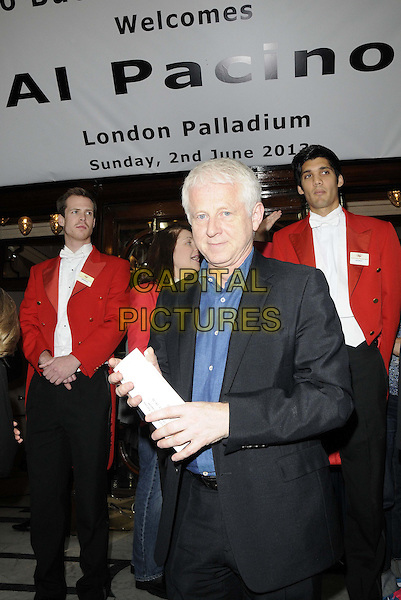 Richard Curtis<br /> The &quot;An Evening with Al Pacino&quot; one-night live performance, London Palladium, Argyll St., London, England.<br /> June 2nd, 2013<br /> half length blue shirt black suit <br /> CAP/CAN<br /> &copy;Can Nguyen/Capital Pictures