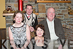CELEBRATING: Celebrating the New Year at The New Year Ball at the Kirbys Lanterns Hotel, Tarbert on Sunday night were, Michael and Joan ODonnell and Mary and Sean Curtin (Ballybunion)..