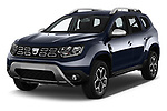 2018 Dacia Duster Duster 5 Door SUV angular front stock photos of front three quarter view
