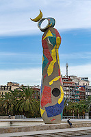 Joan Miró's Dona i Ocell , in the Parc de Joan Miró, Barcelona, Spain