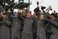 PHILADELPHIA - DECEMBER 11: Army Cadets cheer during a game against the Navy Midshipmen on December 11, 2010 at Lincoln Financial Field in Philadelphia, Pennsylvania. The Midshipmen won 31-17. (Photo by Hunter Martin/Getty Images) *** Local Caption ***