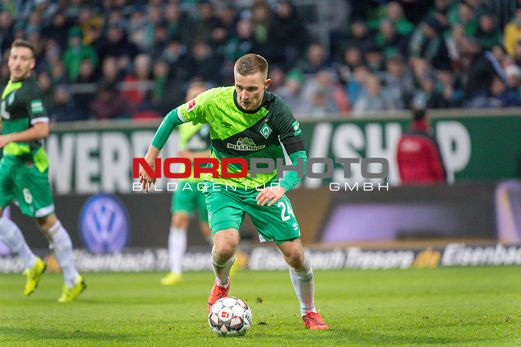 10.02.2019, Weser Stadion, Bremen, GER, 1.FBL, Werder Bremen vs FC Augsburg, <br /> <br /> DFL REGULATIONS PROHIBIT ANY USE OF PHOTOGRAPHS AS IMAGE SEQUENCES AND/OR QUASI-VIDEO.<br /> <br />  im Bild<br /> <br /> <br /> Johannes Eggestein (Werder Bremen #24)<br /> Foto &copy; nordphoto / Kokenge