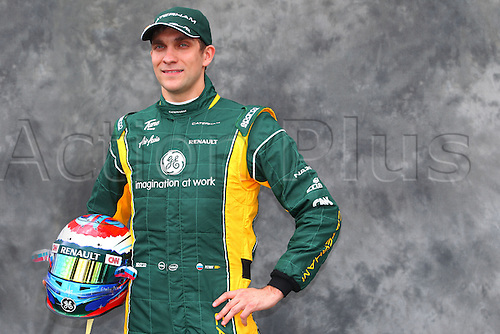 15.03.2012. Melbourne, Australia.  Russian Formula One driver Vitaly Petrov of Caterham during the photo session at the paddock before the Australian Formula 1 Grand Prix at the Albert Park circuit in Melbourne, Australia, 15 March 2012. The Formula One Grand Prix of Australia will take place on 18 March 2012.