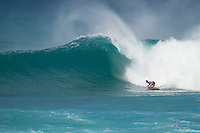 SUNSET BEACH, Oahu/Hawaii (Friday, December 5, 2014): Michel Bourez (PYF). The Vans World Cup of Surfing was  called ON this morning with competition begining with Round 4. <br /> A new NW 6 - 8 foot swell was on hand for the final which built through the day to 10 foot plus by the afternoon.<br /> Four island boys reached the final, three from the islands of Hawaii and one from the islands of tahiti. By the final hooter it was the Tahitian Michel Bourez (PYF) who emerged vitreous with Dusty Payne (HAW) 2nd, Sebastien Zietz (HAW) 3rd and Ian Walsh (HAW) 4th. Photo: joliphotos.com