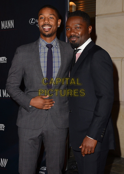 LOS ANGELES, CA - FEBRUARY 25 - Michael B. Jordan, David Oyelowo. Arrivals for the ICON MANN's 2 annual Power 50 pre-Oscar dinner at The Peninsula Hotel in Beverly Hills, Ca.<br /> CAP/ADM/BT<br /> &copy;Birdie Thompson/AdMedia/Capital Pictures