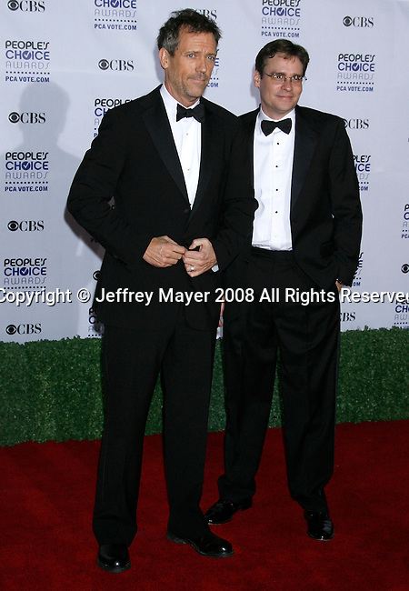 LOS ANGELES, CA. - January 07: Actors Hugh Laurie and Robert Sean Leonard arrive at the 35th Annual People's Choice Awards held at the Shrine Auditorium on January 7, 2009 in Los Angeles, California.
