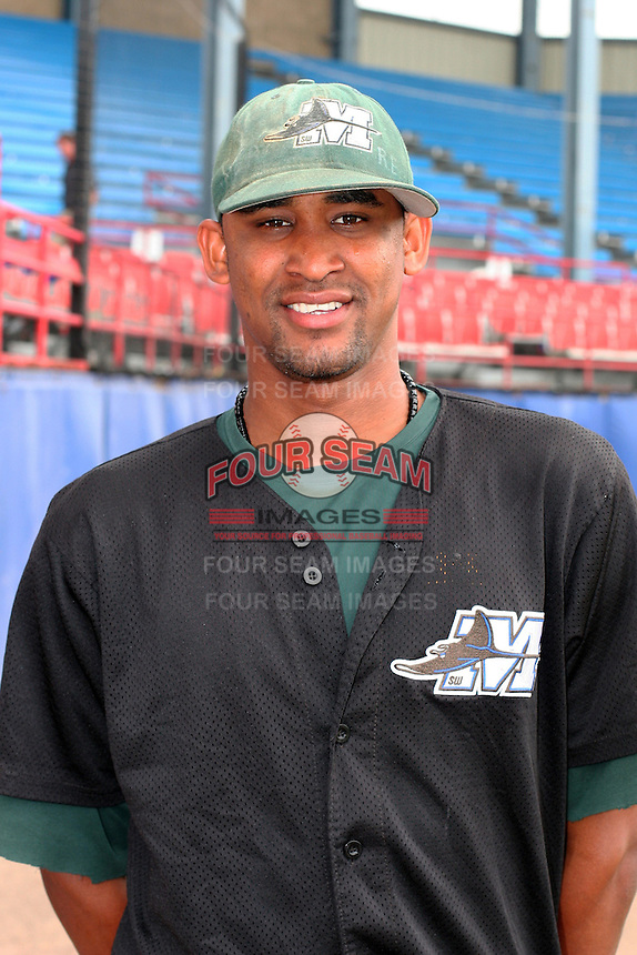 Southwest Michigan Devil Rays Eduardo DeLaCruz poses for a photo before a Midwest League game at C.O. Brown Stadium on July 14, 2006 in Battle Creek, Michigan.  (Mike Janes/Four Seam Images)