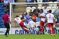 Fraser Franks of Stevenage goes close to a goal during Colchester United vs Stevenage, Sky Bet EFL League 2 Football at the Weston Homes Community Stadium on 12th August 2017