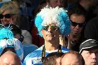An Argentina supporter enjoys the pre-match atmosphere. Rugby World Cup Pool C match between Argentina and Georgia on September 25, 2015 at Kingsholm Stadium in Gloucester, England. Photo by: Patrick Khachfe / Onside Images