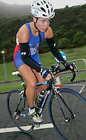 16 JUN 2007 - EDINBURGH, UK - Sophie Coleman on her way to winning the Junior Womens Championships - EUROPEAN DUATHLON CHAMPIONSHIPS. (PHOTO (C) NIGEL FARROW)