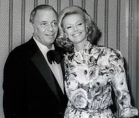 Frank Sinatra and wife Barbara Sinatra Undated<br /> Photo By John Barrett/PHOTOlink