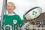 LINING OUT: Rebecca Reilly from Ballyduff ??? who will line out as the Irish Women's Rugby Team mascot in their game against ??? next weekend.