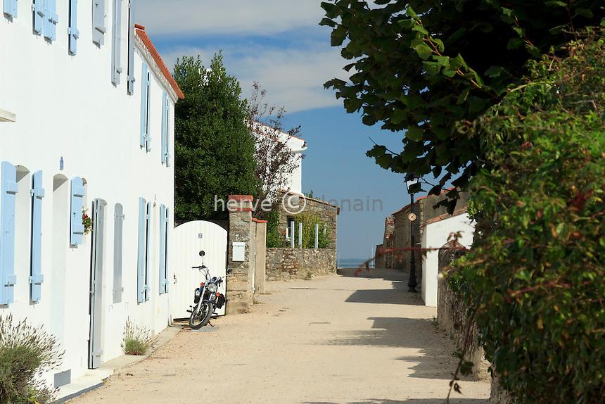 France, Vendée (85), île de Noirmoutier, Noirmoutier-en-l'Île, hameau du Vieil // France, Vendee, Island of Noirmoutier, Noirmoutier en lIle, hamlet du Vieil