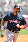 March 17th 2008:  Kevin Youkilis of the Boston Red Sox during a Spring Training game at Legends Field in Tampa, FL.  Photo by:  Mike Janes/Four Seam Images
