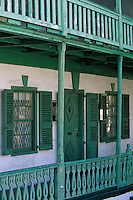Iles Bahamas / New Providence et Paradise Island / Nassau: vieille maison traditionnelle en bois