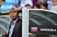 Foxborough, MA - Saturday June 18, 2016: Argentina (ARG) and Venezuela (VEN) prior to a Copa America Centenario quarterfinal match between Argentina (ARG) and Venezuela (VEN)  at Gillette Stadium.