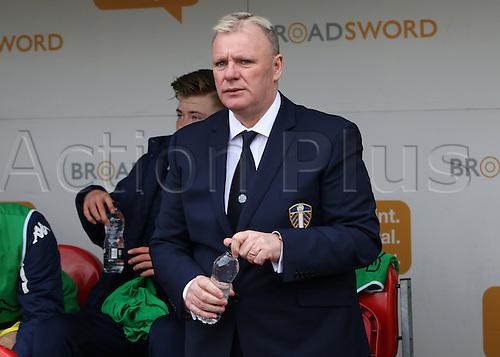 02.04.2016. New York Stadium, Rotherham England.  Sky Bet Championship Rotherham versus Leeds United.Leeds united manager Steve Evans  pre game