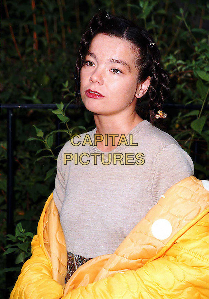 BJORK..yellow coat, half length, half-length..www.capitalpictures.com..sales@capitalpictures.com..©Capital Pictures