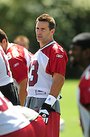 Jun 9, 2008; Tempe, AZ, USA; Arizona Cardinals quarterback (13) Kurt Warner during mini camp at the Cardinals practice facility. Mandatory Credit: Mark J. Rebilas-