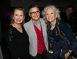 Juliet Mills, Amanda Bearse and Hayley Mills attends the Opening Night of 'Party Face' on January 22, 2018 at Robert 2 Restaurant in New York City.