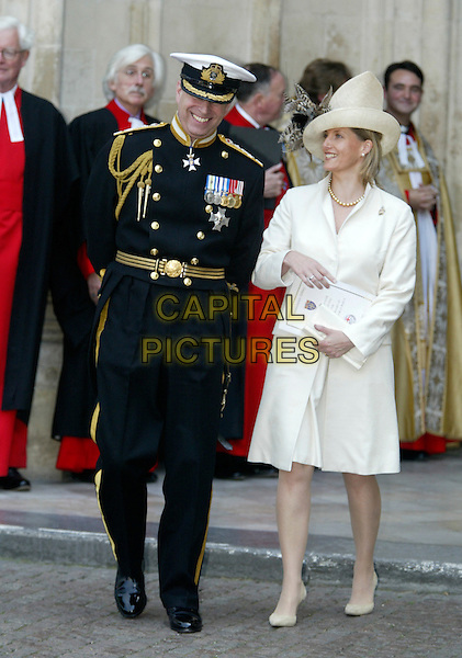 PRINCE ANDREW & SOPHIE COUNTESS OF WESSEX.60th Anniversary Of End Of World War 2.National Commemoration Day.London 10 July 2005 .Ref: FNW.WWII two full length hat uniform.www.capitalpictures.com.sales@capitalpictures.com.© Capital Pictures.