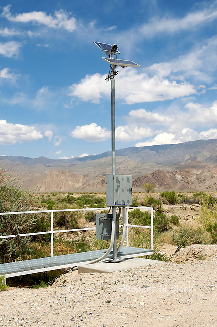 Monitoring equipment on lower Owens River