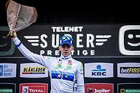 European champion Thibaut Nys (BEL) takes the win in the men juniors race.<br /> <br /> CX Superprestige Zonhoven (BEL) 2019<br /> Men Junior Race