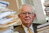 Portrait session with William A. Niskanen, Chairman Emeritus of the Cato Institute, in his office, 28 April 2009, Washington DC, USA.