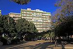 Apartment block housing, city centre of Almeria, Spain - Parque de Nicolás Salmerón
