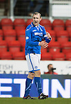 St Johnstone v Ross County...15.03.14    SPFL<br /> Dave Mackay shows his frustration as his shot is tipped over the bar<br /> Picture by Graeme Hart.<br /> Copyright Perthshire Picture Agency<br /> Tel: 01738 623350  Mobile: 07990 594431