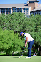 Andrew Johnston (GBR) watches his putt on 10 during round 4 of the Valero Texas Open, AT&amp;T Oaks Course, TPC San Antonio, San Antonio, Texas, USA. 4/23/2017.<br /> Picture: Golffile | Ken Murray<br /> <br /> <br /> All photo usage must carry mandatory copyright credit (&copy; Golffile | Ken Murray)