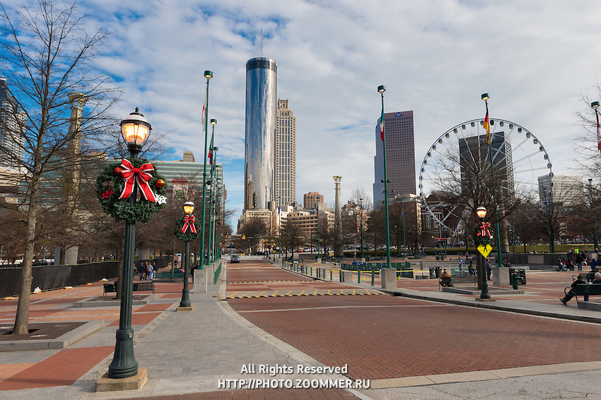 Centennial Olympic Park and Westin Tower, Atlanta, Georgia