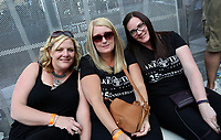 Pictured: Fans before the concert. Wednesday 14 June 2017<br /> Re: Take That concert at the Liberty Stadium, Swansea, Wales, UK