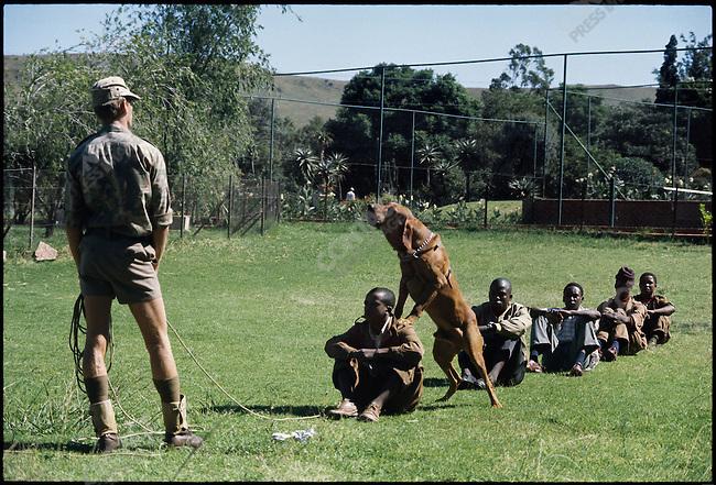 Police Academy training under Apartheid, Pretoria, South Africa, March 1976