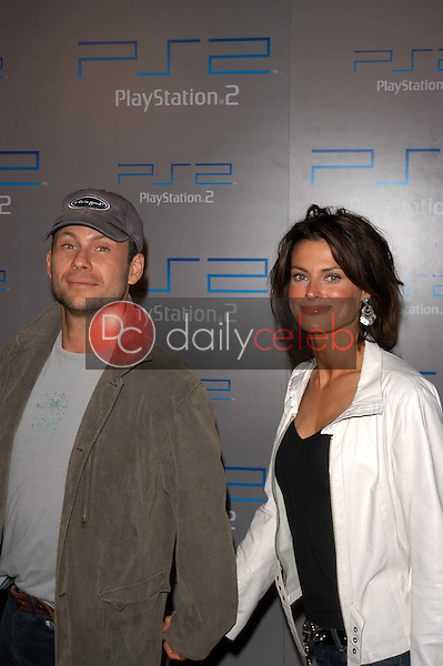 Christian Slater and wife Ryan Haddon