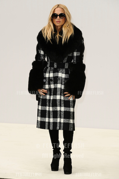 stylist, Rachel Zoe arrives for the Burberry Prorsum SS'12 catwalk show in Kensington Gardens as part of London Fashion Week..19/09/2011  Picture by Steve Vas/Featureflash