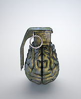 Metal brain as grenade