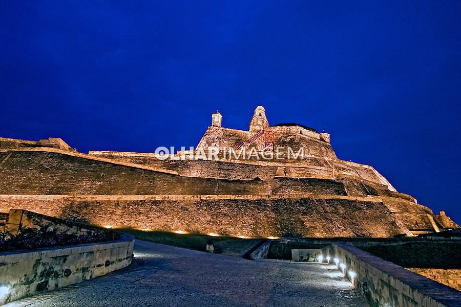 Castelo São Felipe de Baraxas. Centro histórico de Cartagena. Colombia. 2007. Foto de Rogério Reis.
