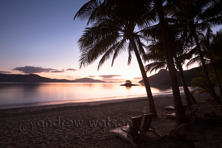 Sunrise at Catseye Beach.  Hamilton Island, Whitsundays, Queensland, Australia