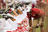 Hawgs Illustrated/BEN GOFF <br /> Warmups Thursday, Aug. 31, 2017, before the game against Florida A&M at War Memorial Stadium in Little Rock.