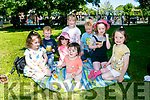 Enjoying a picnic at Feile na mBlath on Saturday were Hannah Dempsey, Caoimhe O'Sullivan, Orla Nolan, Cliona Nolan, Aibhlinn Flaherty, Aibhlinn O'Sullivan, Donagh Flaherty and Eamond Flaherty